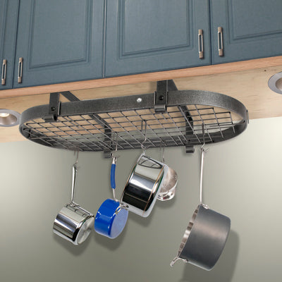 "37"" Low Ceiling Oval Pot Rack w/ 18 Hooks - Enclume Design Products"