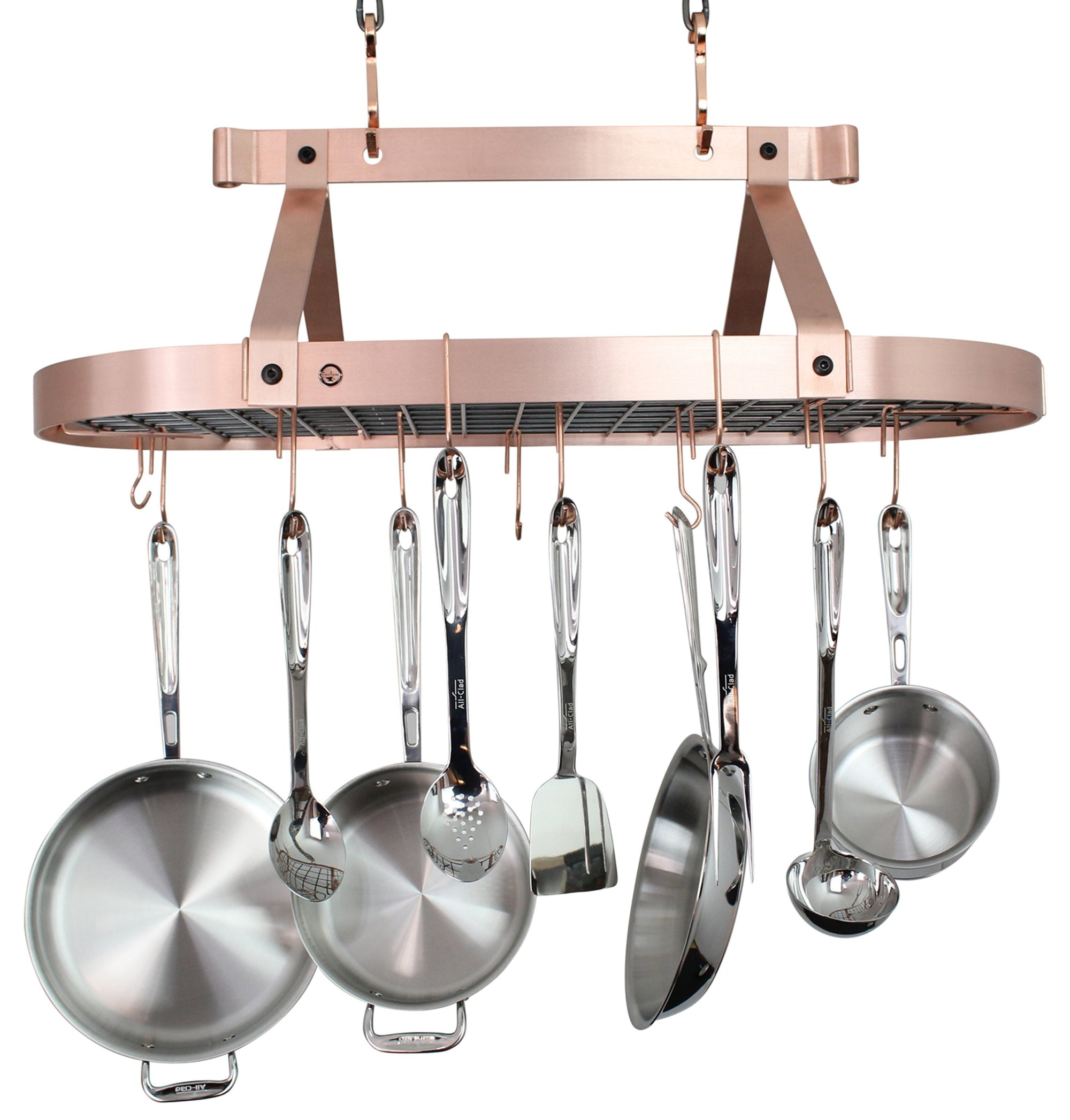 Oval Ceiling Pot Rack w/ Hooks