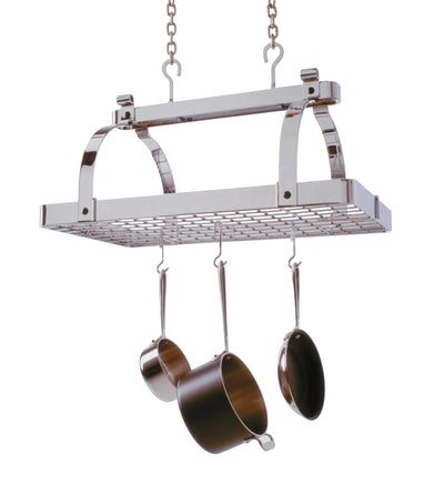 Classic Rectangle Ceiling Pot Rack w/ 12 Hooks - Enclume Design Products
