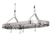 Contemporary Ceiling Pot Rack w/ 12 Hooks Stainless Steel - Enclume Design Products