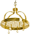 Dutch Crown Ceiling Pot Rack w/ 18 Hooks (12 Angled & 6 Straight)