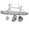 Scroll Arm Oval Ceiling Pot Rack w/ 24 Hooks - Enclume Design Products