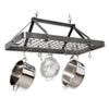 Carnival Rectangle Ceiling Pot Rack Hammered Steel - Enclume Design Products