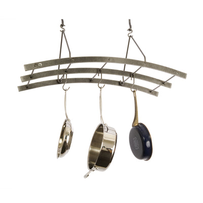 Reversible Arch Ceiling Pot Rack Hammered Steel - Enclume Design Products