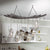 Reversible Arch Ceiling Pot Rack in Hammered Steel