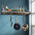"24"" Gourmet Bookshelf Wall Rack w/ 12 Hooks"