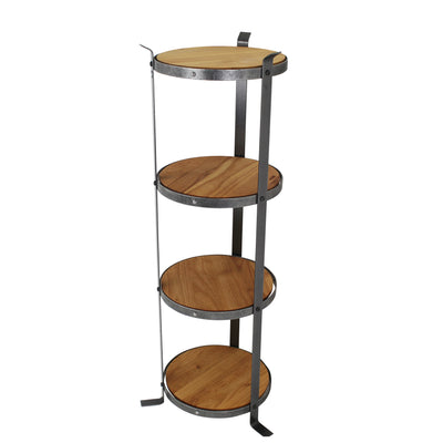 4-Tier Round Designer Stand Hammered Steel (Unassembled) - Enclume Design Products