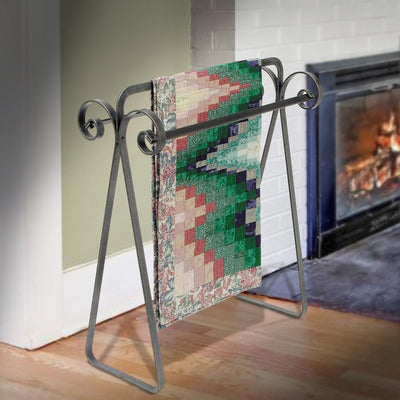 Scroll Quilt Rack Hammered Steel