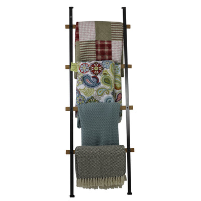 Handcrafted Quilt Rack 4-Tier Ladder