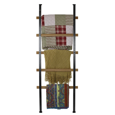 Handcrafted Quilt Rack 5-Tier Ladder