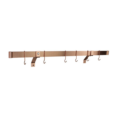 "Professional Series Rolled End Bar w 4"" Wall Brackets & Hooks"