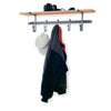 "36"" Coat Rack w/ Solid Hardwood Shelf w/ 5 Hooks - Enclume Design Products"
