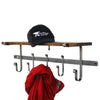 "36"" Coat Rack w/ Solid Hardwood Shelf w/ 5 Hooks"