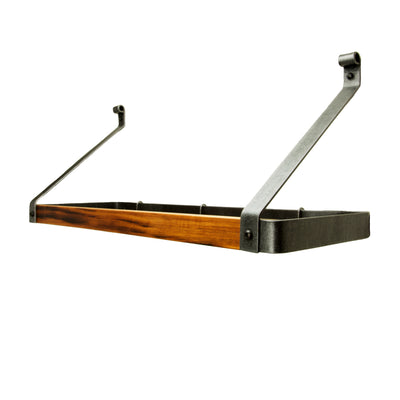 "Signature Gourmet Bookshelf Wall Rack w/Tigerwood (24"", 30"", 36"") - Enclume Design Products"