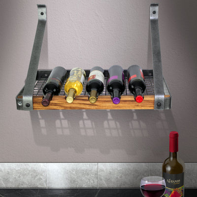 "Signature Series Bookshelf Wine Rack w/Tigerwood (24"", 30"", 36"") - Enclume Design Products"