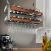 "Signature 36"" Bookshelf Double Wine Rack w/Tigerwood (16 Bottles) - Enclume Design Products"