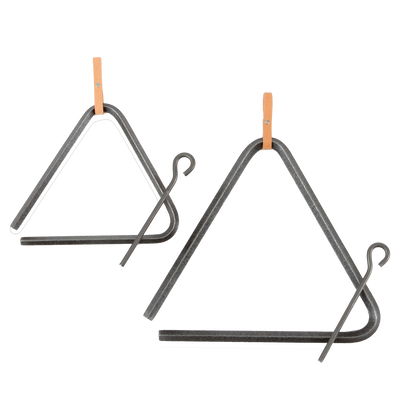 Authentic Western Dinner Triangle Hammered Steel