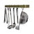 "Enclume® Handcrafted 24"", 30"" & 36"" Utensil Bar w/ 6 Hooks Brass PC"
