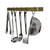 Professional Series Wall Rack Utensil Bar w/ 6 Hooks - New Accent Colors