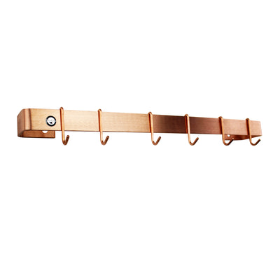 "Professional Series Wall Rack Utensil Bar w/ 12 Hooks (36"" to 48"") - Enclume Design Products"