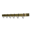 Professional Series Wall Rack Utensil Bar w/ 6 Hooks, Brass Finish Powder Coated