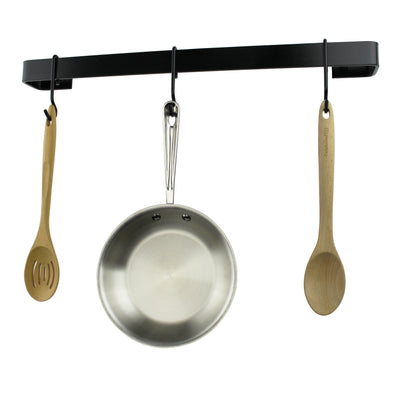 Professional Series Wall Rack Utensil Bar w/ 6 Hooks - Accent Colors - Enclume Design Products