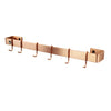 "Professional Series Wall Rack Utensil Bar w/ 6 Hooks (18""to 30"")"