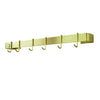 "Enclume® Handcrafted 24"" & 36"" Utensil Bar w/ 6 Hooks Brass Finish"