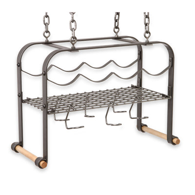 Hanging Wine & Accessories Rack (4 bottles) - Enclume Design Products