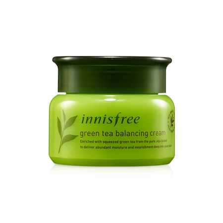 [Innisfree] Green tea balancing cream 50ml (2018 Renewal)