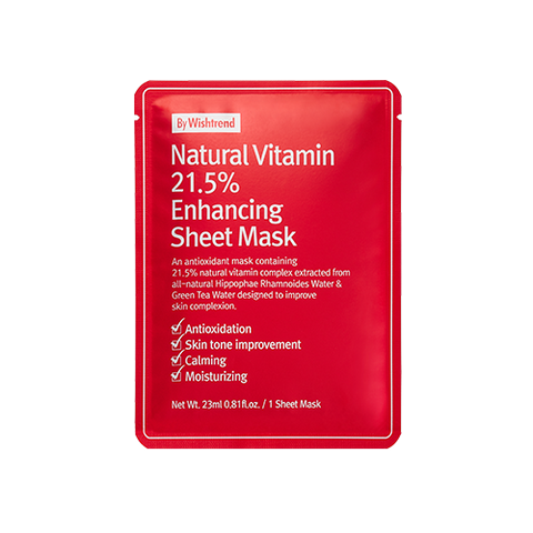 [By Wishtrend] Natural Vitamin 21.5 Enhancing Sheet Mask