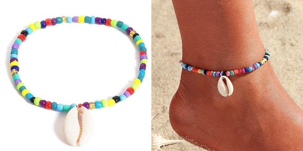 Beaded Cowrie Shell Anklet