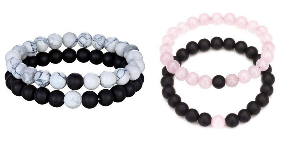 Beaded Distance Bracelets for Couples