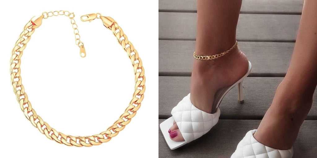 Cuban link ankle chain