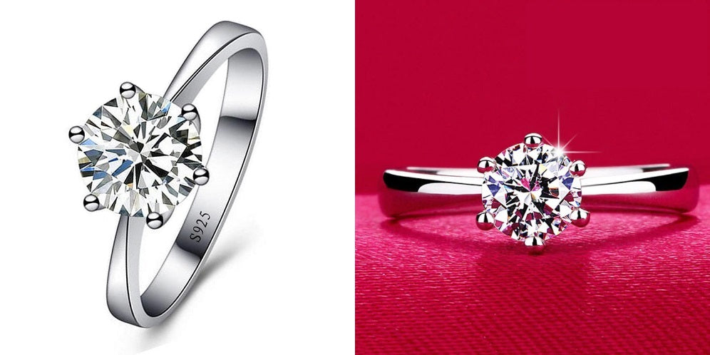 1 Carat cubic zirconia engagement rings