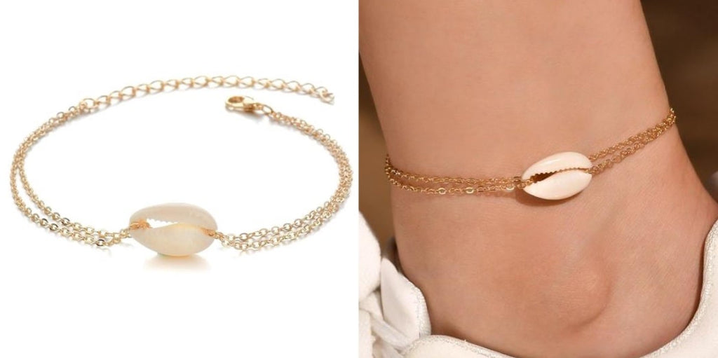 Dainty Gold Seashell Anklet