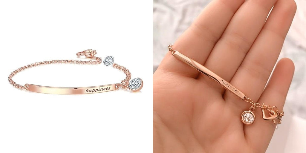 Happiness crystal bracelet for her