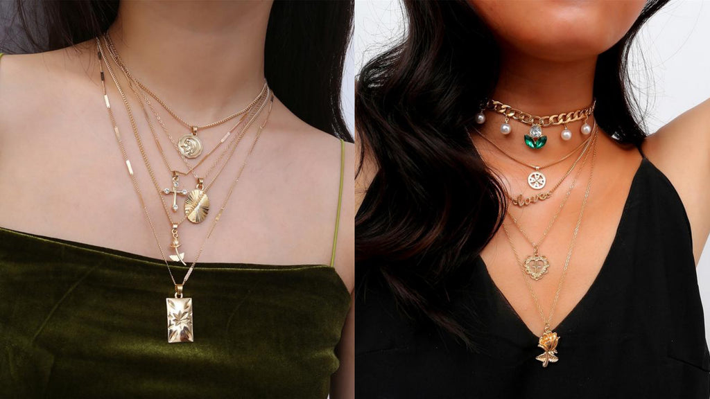 Layered Cross Necklaces