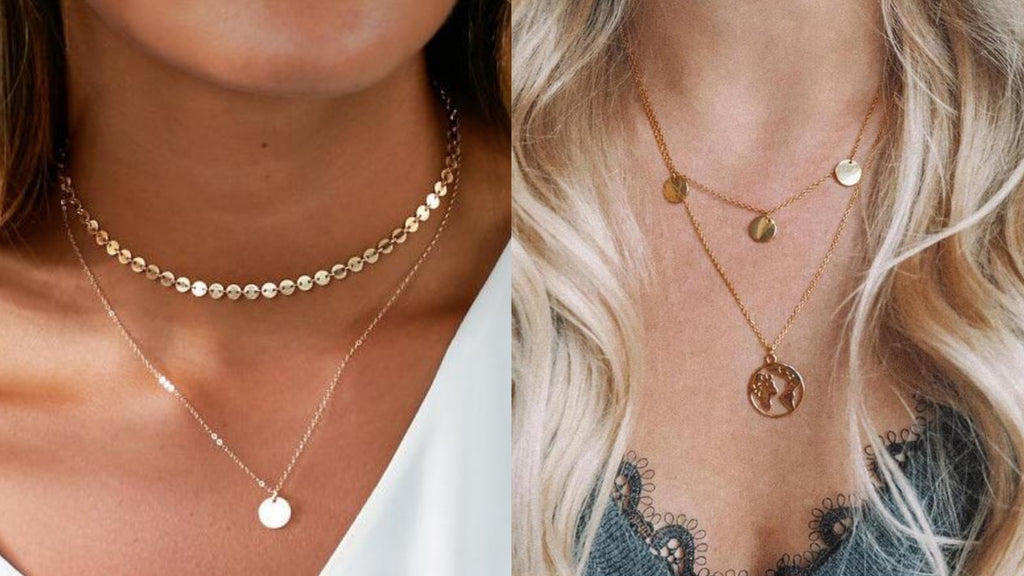 Layered Disc Necklaces