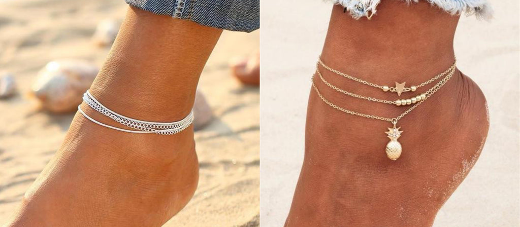 Layered Anklets By Classy Women Collection