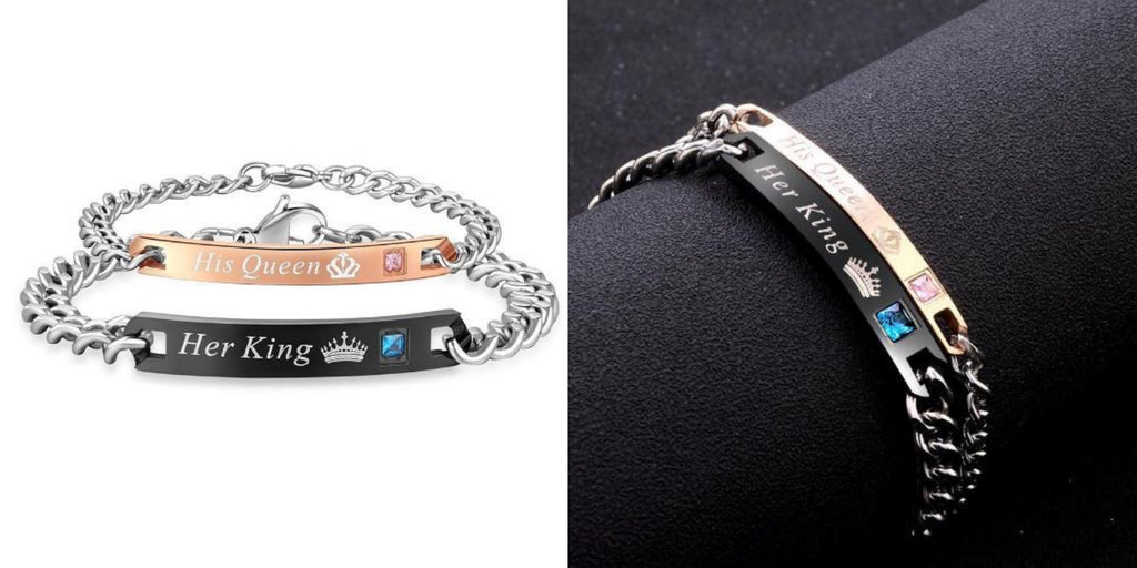 King&Queen Long Distance Relationship Bracelets