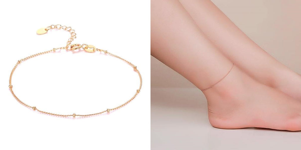 Rose gold vermeil ankle chain
