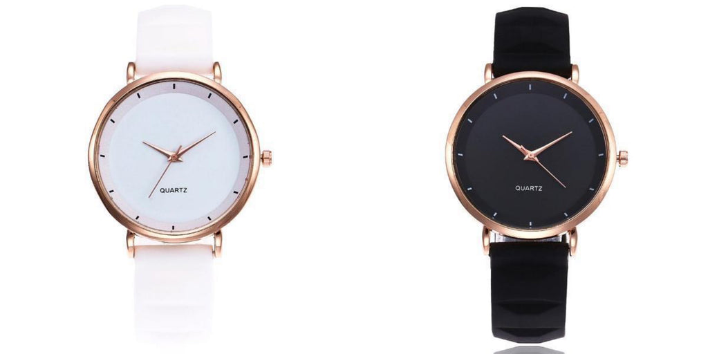Simple Watch With Silicone Strap For Women