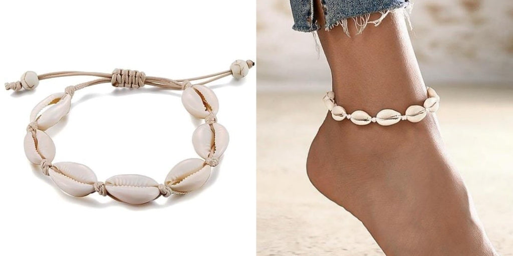 Simple Cowrie Shell Anklet