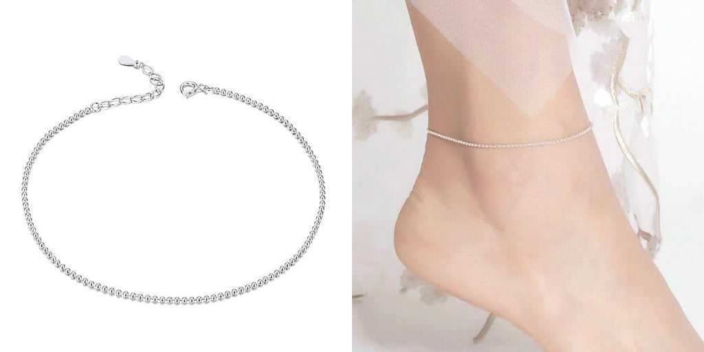 Simple 925 sterling silver ankle chain