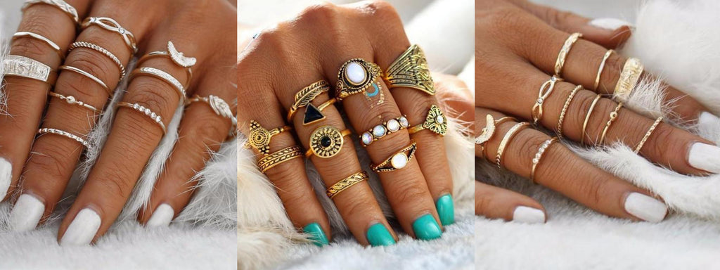Stackable Ring Sets by Classy Women Collection