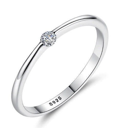 Classy Women 0.25ct Silver Engagement Ring | Ring - Classy Women Collection