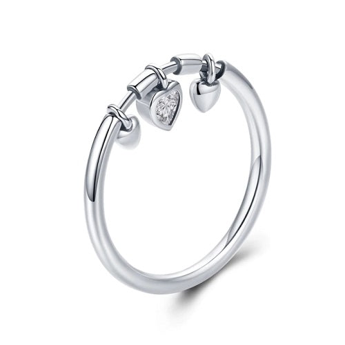 Classy Women Silver 3-Heart Ring | Ring - Classy Women Collection