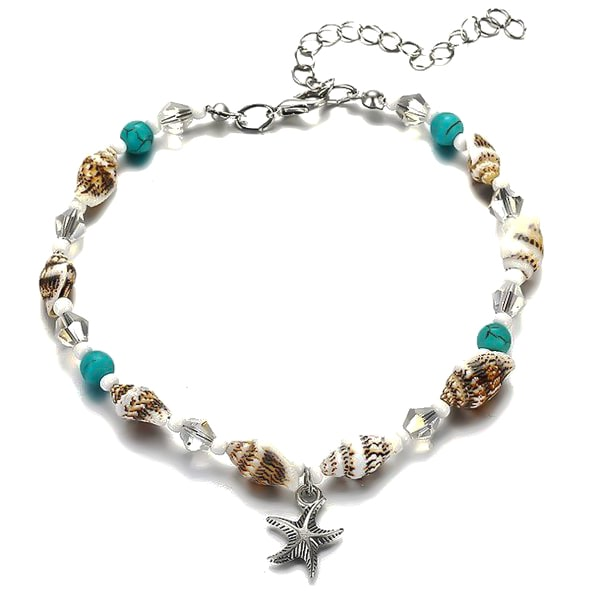 Beaded Seashell Anklet