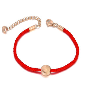 Chic red rope bracelet